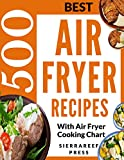 AIR FRYER RECIPES: AIR FRYER COOKBOOK: 500 BEST RECIPES TO FRY, GRILL, ROAST AND BAKE (paleo, clean eating, keto, healthy meals, air fryer recipes cookbook, ... cooking for two, vegan, Instant meal, pot )
