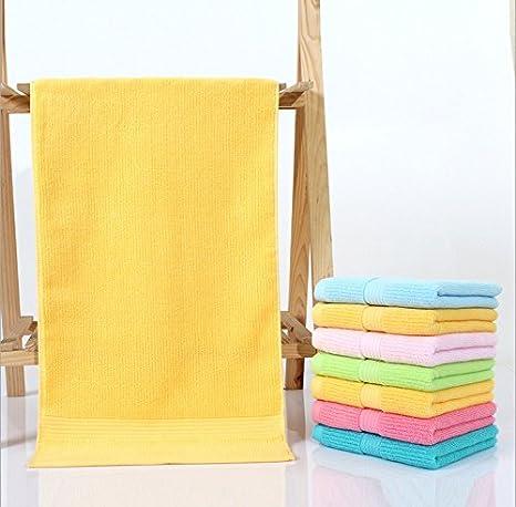 XXIN Toallas Toallas De Baño Toallas De Baño De Algodón para Parejas Casa Amarilla Oscura Obligatoria 70 * 0Cm.: Amazon.es: Hogar