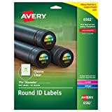 Avery Glossy Clear Permanent Multipurpose Round Labels, 1.625 Inch Diameter, Pack of 500 (6582)
