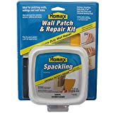 """Drywall Patch and Repair Kit, Wall Patch Kit with 8 fl. oz. Spackling, 3"""" Putty Knife, 2 Sanding Pads and 4""""x4"""" Wall Patch"""