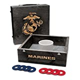Victory Tailgate US Marine Corps Washer Game Set Onyx Stained