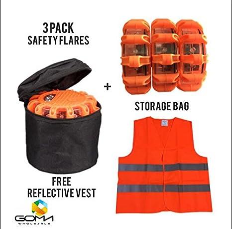 Amazon Com Traffic Warning Lights Safety Kit 3 Pack Led Flashing