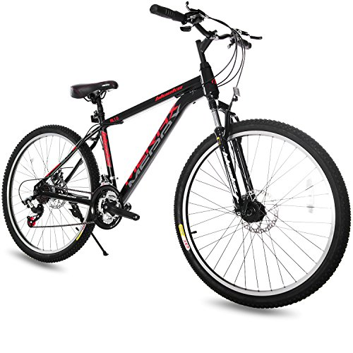 Merax 21 Speed Hardtail Mountain Bike with Dual Disc Brakes 26inch (Black)