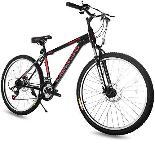 Merax 21 Speed Hardtail Mountain Bike with Dual Disc Brakes 26inch (Black)