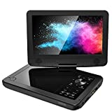 ieGeek 12.5 inch HD Portable DVD Player with AV-in/Out, SD Card & USB Port, 5h Rechargeable Battery, 10.5'' Swivel Screen, Support One-Key Mute Playing, Memory Playing, Region Free, Black