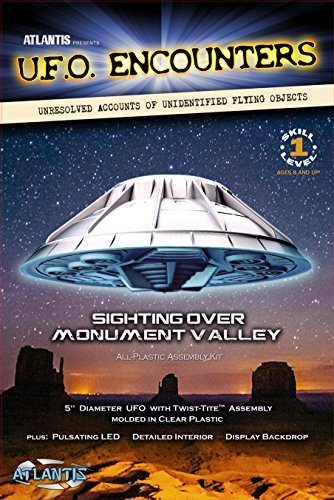 Monument Valley UFO Clear 5-Inch Model Kit with Light (Ufo Model Kit Plastic)