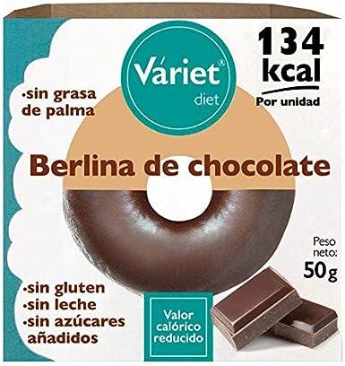 Váriet Berlina de chocolate light, sin gluten, sin leche, sin grasa de palma, 50 g