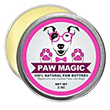 Paw Magic All Organic And Natural Paw Balm That Repairs And Heals Your Dog Paws With Shea Butter, Bees wax, Coconut Oil To Moisturize And Protect Damaged, Rough, Cracked, And Dry Pads 2 Oz