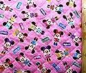 <Qキャラクター・キルティング生地>ミニーマウス(ピンク)#89 (2018-2019)(キルティング キルト キャラクター キルティング生地 布 入園 入学 ピロル)クラフトシリーズの商品画像