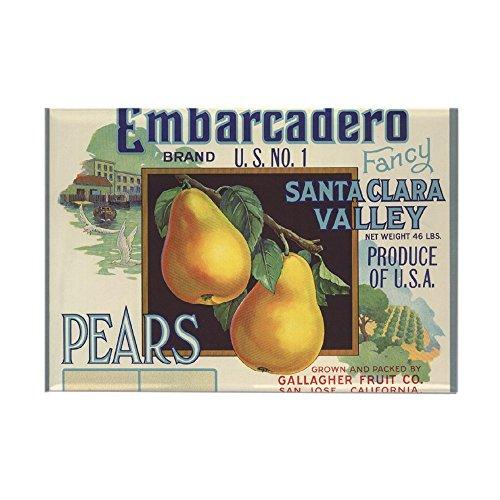 - CafePress Vintage Fruit Vegetable Crate Label Magnets Rectangle Magnet, 2