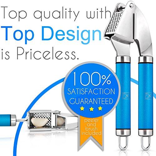 Alphazeta garlic press and peeler tube set top quality for Top quality garden tools