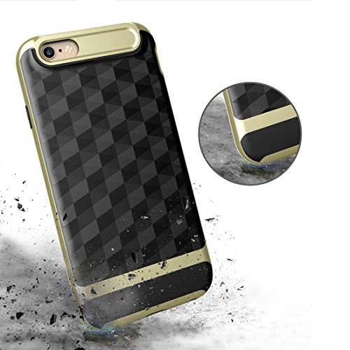 Protege tu iPhone, Para iPhone 6 3D diamante PC + TPU Combinación caso protector Para el teléfono celular de Iphone. ( Color : Negro ) Oro Rosa