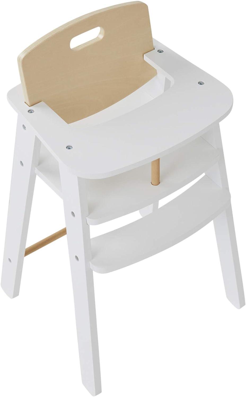 Chaise haute poupon en bois blanc Vertbaudet
