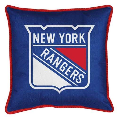 Ny Rangers Throw (NHL New York Rangers Sideline Pillow)
