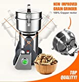 ALDKitchen Grain Mill Grinder 400 gr. | Stainless Steel, Commercial Grade | Grind Grain, Roots, Flour, Kernel, E-gelation, Olibanum, Milk Vetch |Energy Saving Grinding (400gr.)