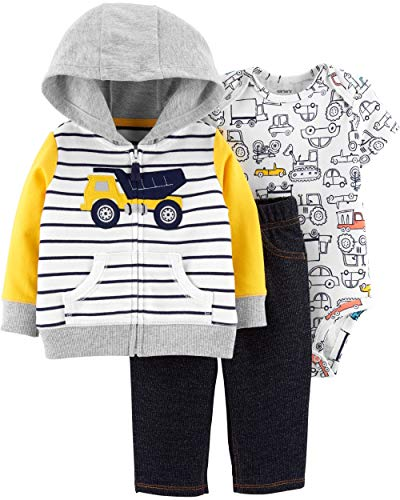 Carter's Baby Boys Cardigan Sets 121h271, Dump Truck, 12 ()