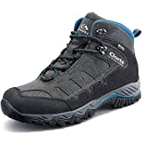 Clorts Men's Pioneer Hiking Boots Waterproof Suede Leather Lightweight Hiking Shoes Dark Grey/Blue