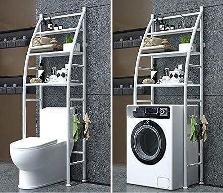 T-LoVendo TLV-0026S Estanteria sobre Inodoro WC Cuarto Baño Lavadora Ahorra Espacio Almacenamiento: Amazon.es: Bricolaje y herramientas
