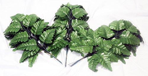 Leaf Leather Green - Silk Leather Leaf Fern Leaf-36 stems