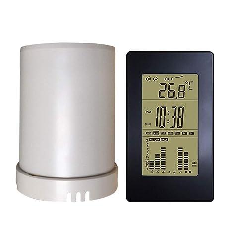 MRZ Termómetro Pantalla LCD Digital, Sensor Lluvia ...