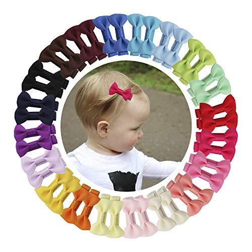 (40 Piece Baby Hair Bows Clips Mini Hair Clips Hair Bows For Babies Girls Toddlers Thin Fine Hair)