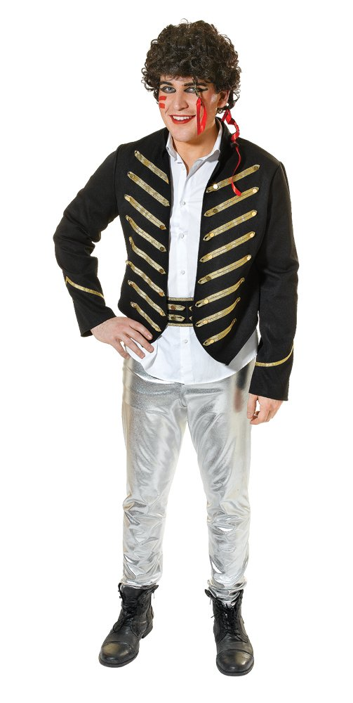 Adam Ant Fancy Dress Costume for Men. Standard size for up to 44