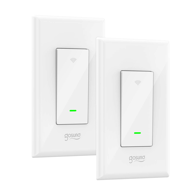 smart light switch gosund 15a smart wifi light switch with remote