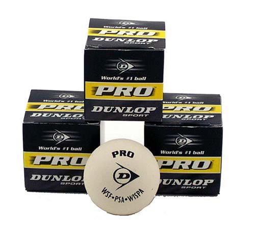 Dunlop White Pro Squash Ball - 3 Balls product image