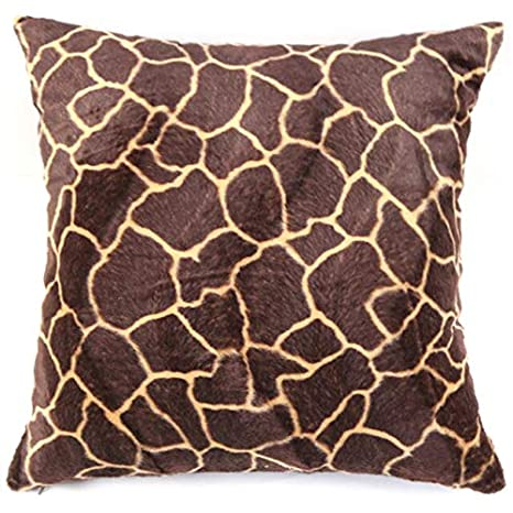 BOLOG Fundas De Cojines Animal Print De Leopardo Sólido Cojin Almohada Color Sólido Square Duradero Decoración para Hogar Sofá Cama Coche 50X50CM