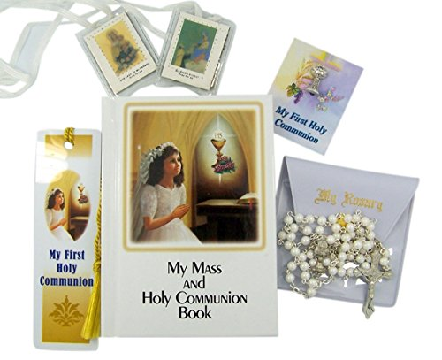 My First Holy Communion Deluxe Boxed Gift Set (Girls in White) (First Communion Centerpieces)