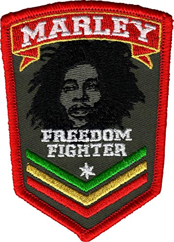 (Bob Marley - Freedom Fighter Logo - Embroidered Iron On or Sew On)