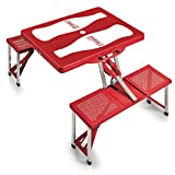 Picnic Time Coca-Cola Portable Picnic Table with Seating for 4, Bottle Print