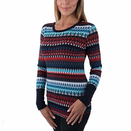 Orvis Thermal (Orvis Ladies' Long Sleeve Thermal Top, Navy Aztec (Medium, Navy)