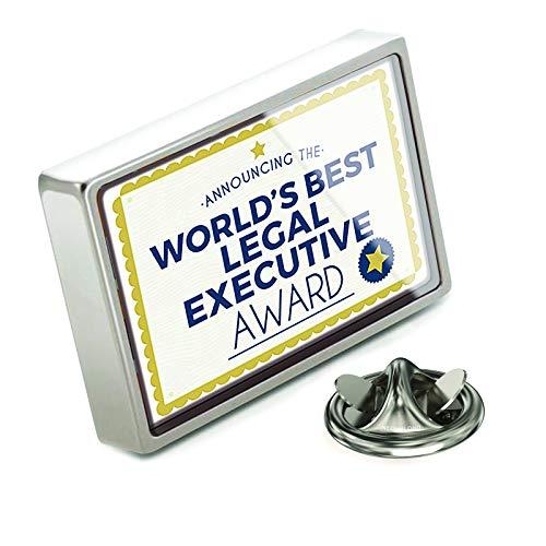 NEONBLOND Lapel Pin Worlds Best Legal Executive Certificate Award