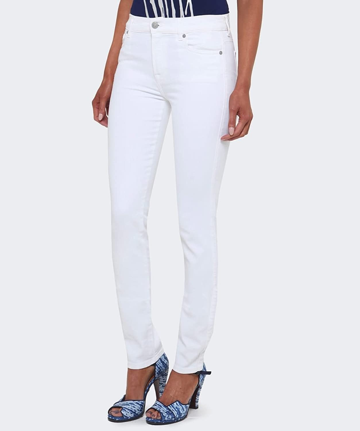 7 For All Mankind Rozie Cropped Skinny Jeans White