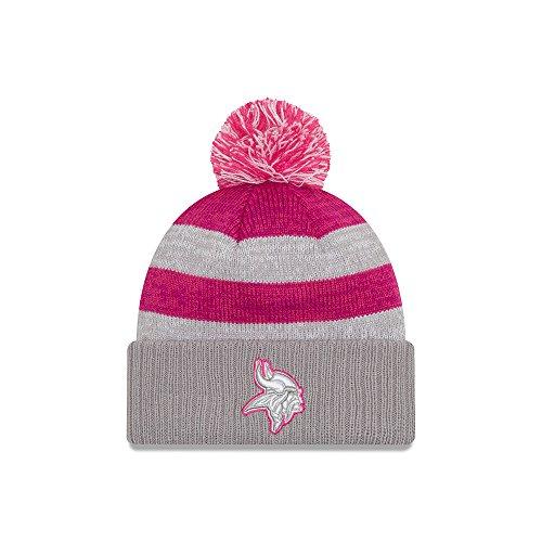 センブランス祖先スナップNew Era 2016 Minnesota Vikings Breast Cancer AwarenessレディースCuffedニット帽子