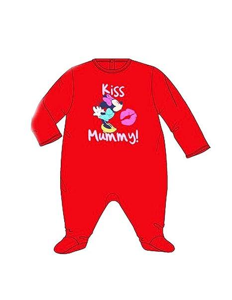 Minnie - Pelele para dormir - para bebé niña rojo 18 meses: Amazon.es: Ropa y accesorios