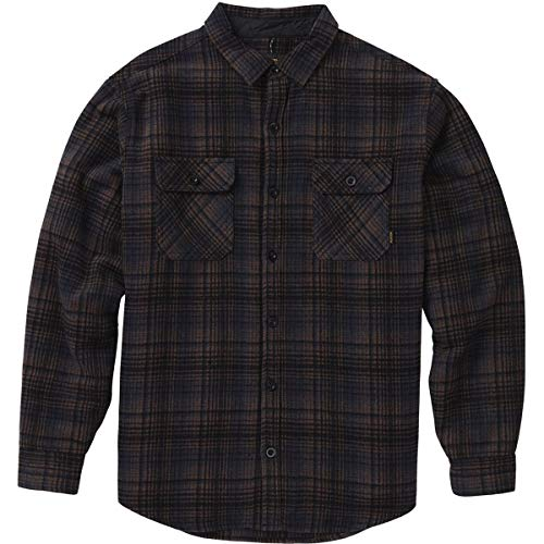 - Burton Men's Brighton Tech Insulated Flannel, True Black Humboldt Plaid, X-Large