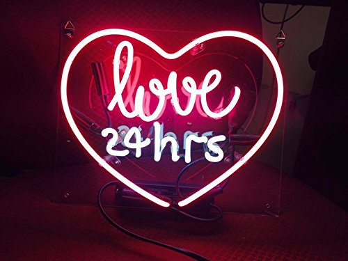 Desung Brand New 17'' Love 24 Hrs Lover (Various sizes) CUSTOM Design Decorated Acrylic Panel Handmade Man Cave Neon Sign Light UT104