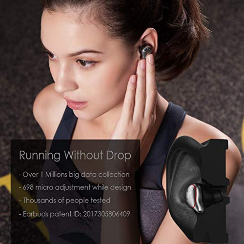 Wireless Earbuds,mifo Wireless Earbuds, Mifo O5 Bluetooth 5.0 Wireless Headphones, Unit Full Frequency HiFi, 3D Stereo Sound, IP67 Waterproof Headphones, Noise Reduction Earbuds Sports(Silver Gray)