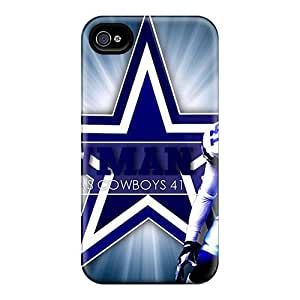 Iphone 4/4s Dallas Cowboys Print High Quality Tpu Gel Frame Case Cover