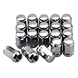 5 lug chevy truck wheels - GDSMOTU 20pc Chrome Bulge Acorn 14x1.5 Steel Wheel Lug Nuts for 5 Lug Chevy Silverado 1500 GMC Dodge Ram Truck(1.38