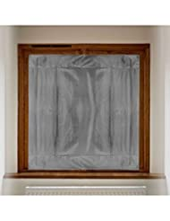 Blackout Buddy - 2 x Portable Blackout Blinds / Curtain for Home and Travel (Grey)