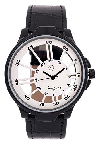 Lugano Black Transparent Analog Watch for Men/Boys  LG 1065