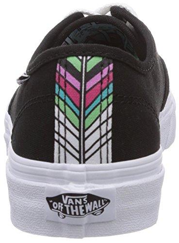 Vans W Camden Stripe - Zapatillas de lino mujer negro - Black (Black/White)