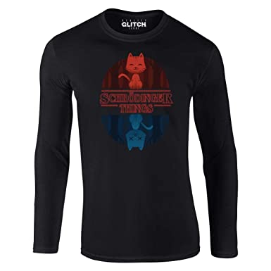 fce8ad5d4 Reality Glitch Men's Schrodinger Things Long Sleeve T-Shirt (Small, Black)