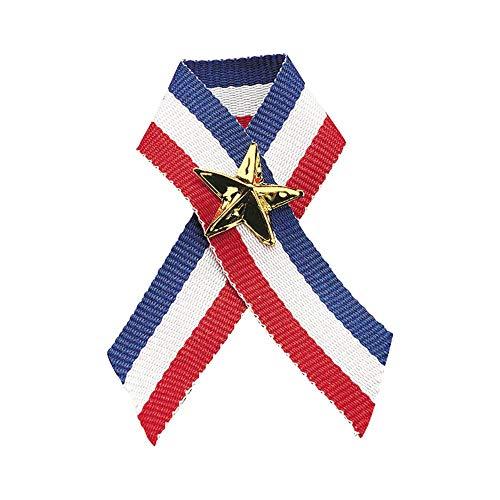 Fun Express Patriotic Ribbon with Star Pins (12 Pack) 4