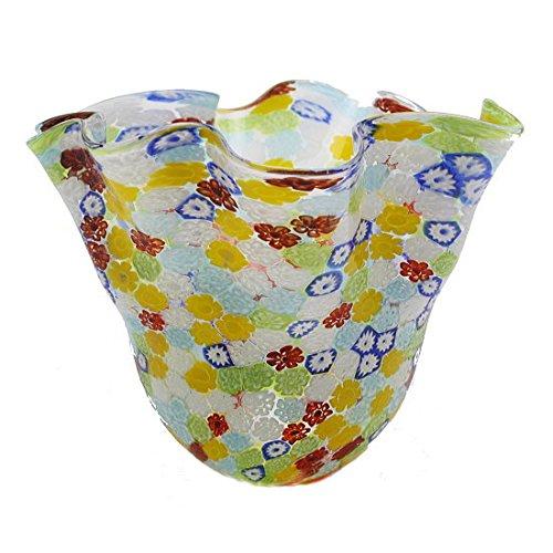 ベネチアンガラス 花瓶「FIORE MURRINA FAZZOLETTO」カラフル かわいい 美しい 奇麗 高級感 B071GQJ9CT
