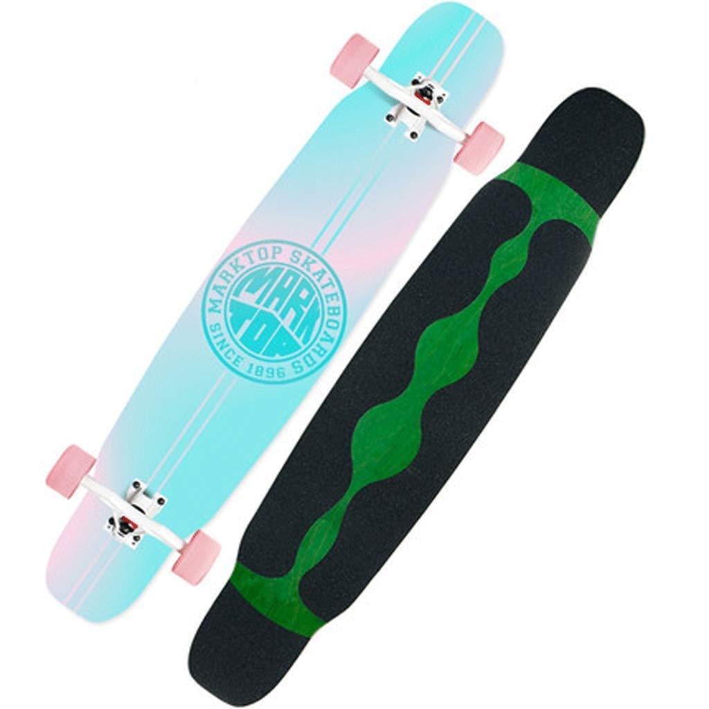 送料無料 ストリートダンスボードスケートボードロングボード初心者大人男性と女性のプロフェッショナルロングボードフォーホイールスケートボード (色 Gradient : Pineapple) B07KS89QDL : (色 Gradient Gradient, 石巻こだわり屋本舗:e3724f54 --- a0267596.xsph.ru