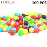 Luerme 100PCS Color Beer Pong Balls Great for Table Tennis & Ping Pong Tournaments, Carnival Games, Parties, Advertising Activities 40mm